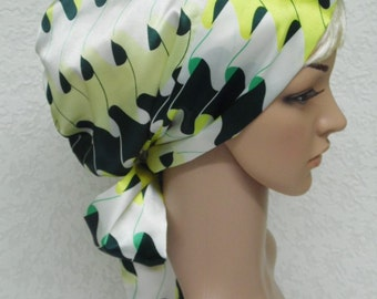 Tichel, satin head snood, full hair cover, elegant bonnet for long hair, sleeping head scarf, cap for natural curly hair, hair care scarf