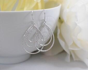 The Aria Earrings - Silver