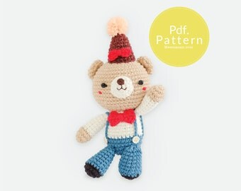 PDF. PATTERN - Hello Mr.TOM,  Amigurumi pattern, Crochet pattern, Dollhouse pattern.