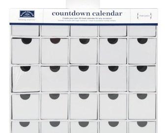ADVENT CALENDAR BOX - CountDown Calendar by Karen Foster - 25 Boxes in holder - New !!