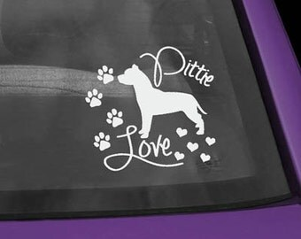 Pit Bull Love Vinyl Decal