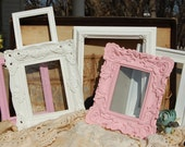 PICTURE FRAME Set - Shabby Chic Decor - Set Of 6 Ornate Picture Frames