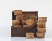 Vintage Large Cork Collection - Instant Cork Collection - Large Corks - Old Old Corks - Boho Decor - Collection Decor