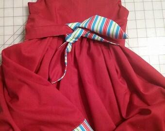 Girl's Dress Asian Print
