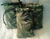 Reefer Camouflage Padded Bag/ Pillow Pouch /  Pipe Bag