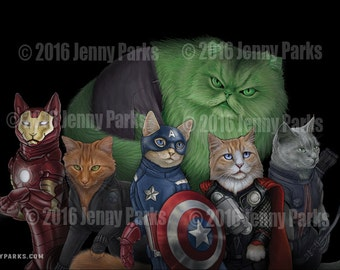 The Catvengers Postcard