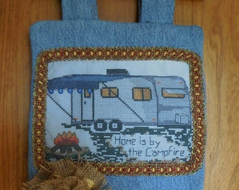 Campers Wall Decor, retro, wall hanging, home is by the campfire, saying, trailer, motor home, outdoor, ec s.