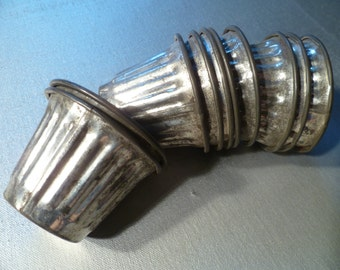 Vintage Aluminum Baking Shape Molds Set of 10