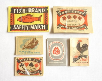 108 Vintage Safety Match Labels. Matchbox Labels, Matchbox Paper Stickers, Branded Safety Matches, Safety Matches, Collectibles