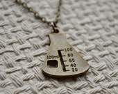 Biolojewelry - Bronze Beaker Science Chemistry Biology Necklace