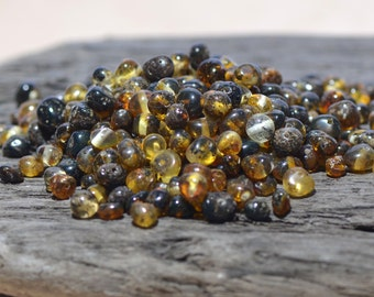 Baltic Amber beads with drilled hole. 50 pcs. - Best Amber Quality from Lithuania