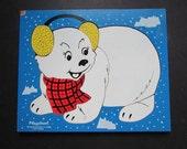 Vintage Playskool Puzzle Polar Bear 275-26 Preschool Puzzle