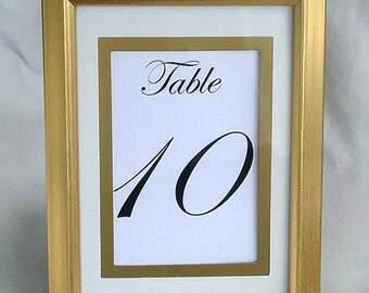 Gold Table Card Frame Frames Wedding Table Number Cards Silver or Gold Frame Table Cards Gold Table Card Frame Elegant Reusable Formal Frame