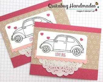 Stampin' Up! Valentine Card/Love Card/Anniversary Card- Beautiful Ride- Love Bug