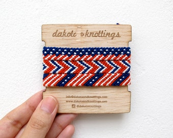 Friendship Bracelet Set, Woven Bracelet, Braided Bracelet, USA Bracelet, Flag Bracelet, American Flag Bracelet, Red White Blue Bracelet