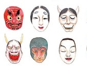 1 Roll of Limited Edition Washi Tape: Japanese Traditional MASK