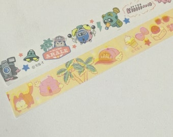 2 Rolls of Japanese Anime Wash Tape -Dr. Slump