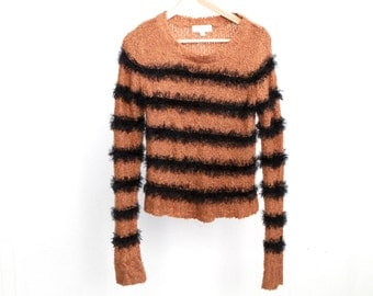 vintage 1990s nirvana STRIPED slouchy sweater