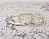 White Gold Wedding Band - 9ct White Gold - Wedding Band - Wedding Ring - Hammered or Smooth
