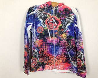 tacky ghetto ed hardy hoodie size S