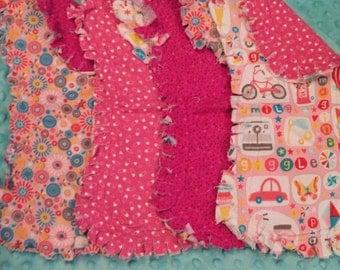 SALE!!!Rag Style Burp Cloths-Set of 4
