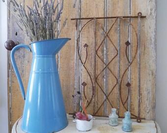 Vintage Iron Rectangular Fence Piece