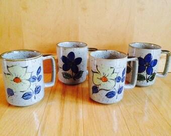 vintage stoneware coffee mugs