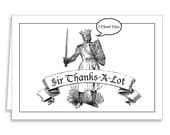 Funny Thank You Cards Set with Envelopes Sir Lancelot by Guajolote Prints 12 Count