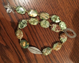OOAK Rhyolite and Thai Silver Necklace