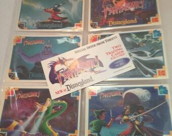 DISNEY FANTASMIC trading card set of 6 from kodak