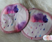 Acid Rain Clouds Nursing Pads - Bamboo - Waterproof Nursing Pads - 1 Set - Reusable Nursing Pads - Made to Order