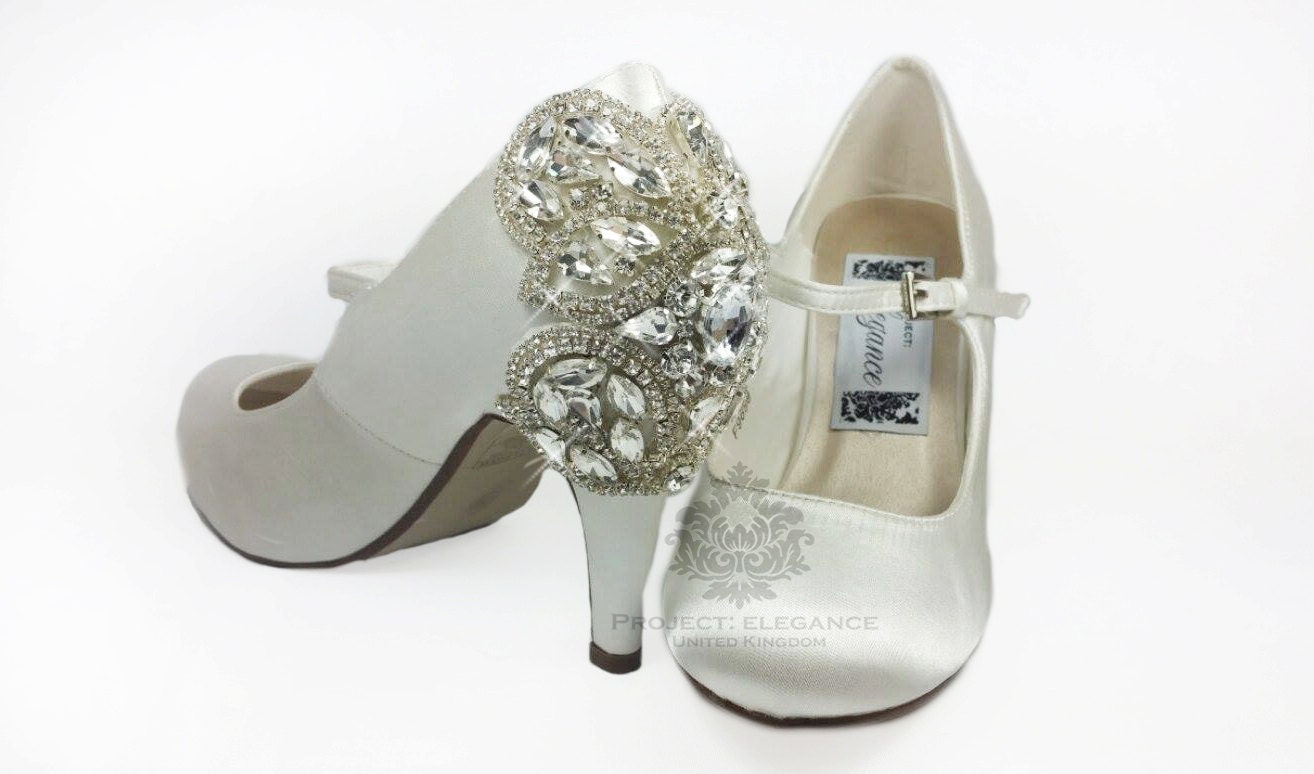 Exceptional Limited Edition: Mid Heel, Medium Heel Wedding Shoes, Crystal Wedding Shoes,  Crystal Back Wedding Shoes Gallery