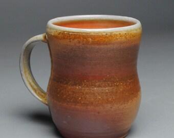 Clay Coffee Mug Beer Stein Wood Fired E52