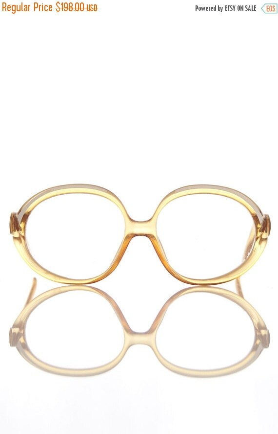 ON SALE 1970s Vintage Women's Christian Dior Large Frame Eyeglasses