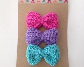 Crochet bow nylon headband [OLIVIA.MINI]