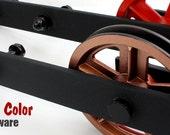 Sliding Barn Door Hardware Kit Spoked Wheel Complete