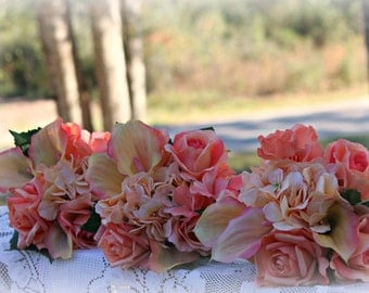 Custom Made 23 pcs  real touch-silk Wedding Flower Package (traditional package)