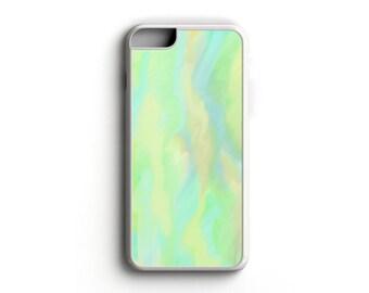 Watercolor - Aqua-Yellow-Green - iPhone 5/5s, iPhone 6/6s, iPhone 6/6s Plus, Samsung S5, Samsung S6 Cell Phone Case