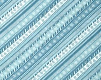 Blue Diagonal Stripe by Wilmington Yardage REDUCED