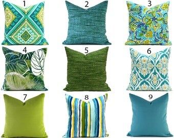 Blue Outdoor Pillows ANY SIZE Outdoor Cushions Outdoor Pillow Covers Decorative  Pillows Outdoor Cushion Covers Best