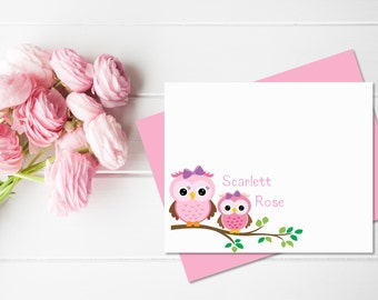 Owl Stationery Set for Girls | Owl Stationary Set | Owl Baby Shower | Owl Gifts |  Owl Notecards | Childrens Stationary