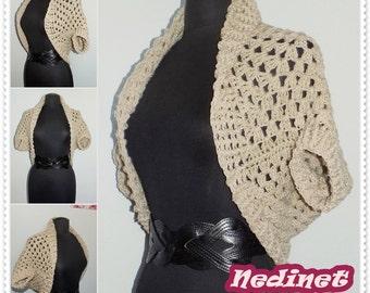 Crochet PATTERN, Sweater Pattern Summer Crochet Cardigan Patterncrochet sweater, crochet shrug, bulky cardigan pattern
