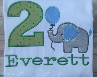 Elephant Birthday Shirt - Personalized Boys Elephant Birthday Shirt - Boys Elephant Birthday Shirt