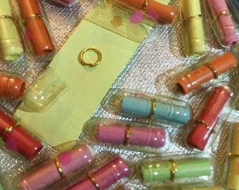 Secret Message in a Pill Capsule with Heart Fake Pill Pretend Pill