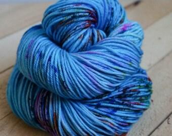 smurfy - hand dyed DK weight yarn - 4 ply - 100% SW merino