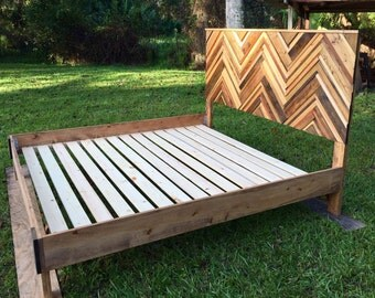 Chevron King Bed Simple Frame