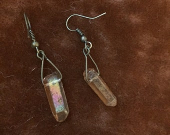 Crystal & Bronze Earrings