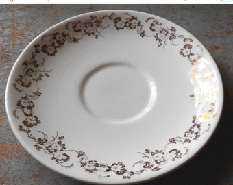 ON SALE Vintage Plate,  Saucer, Taylor Smith, Gold, Floral, Small Plate, Cake Plate, Tea Cup Saucer, Bread Plate