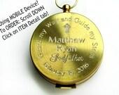 Confirmation Gift Boys, Confirmation Custom Gift for Godparents, Baptism Boys, Baptism Gift for Godfather, Engraved Custom Working Compass