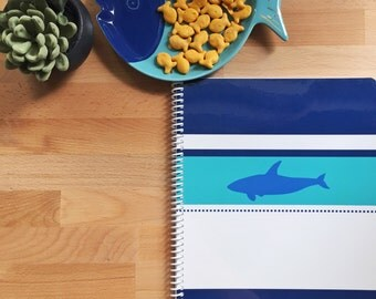 Shark Personalized Notebook- Shark Notebook - Shark Journal
